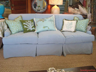 image - London sofa cover with summer pillows