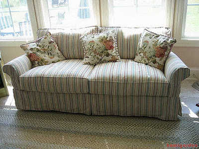 image - Stripped sofa cover ideas
