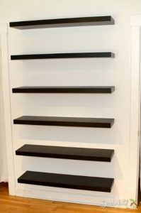 DIY Storage Shelves, How to Build a Floating shelf