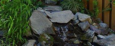 rock waterfall for water garden ideas