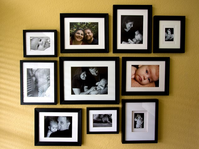 Image of Homemade Wall Decoration Ideas with Family photos