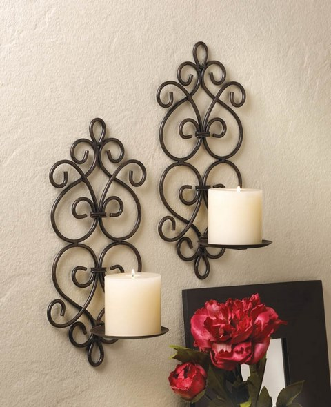 image of Homemade Wall Decoration Ideas with Sconces