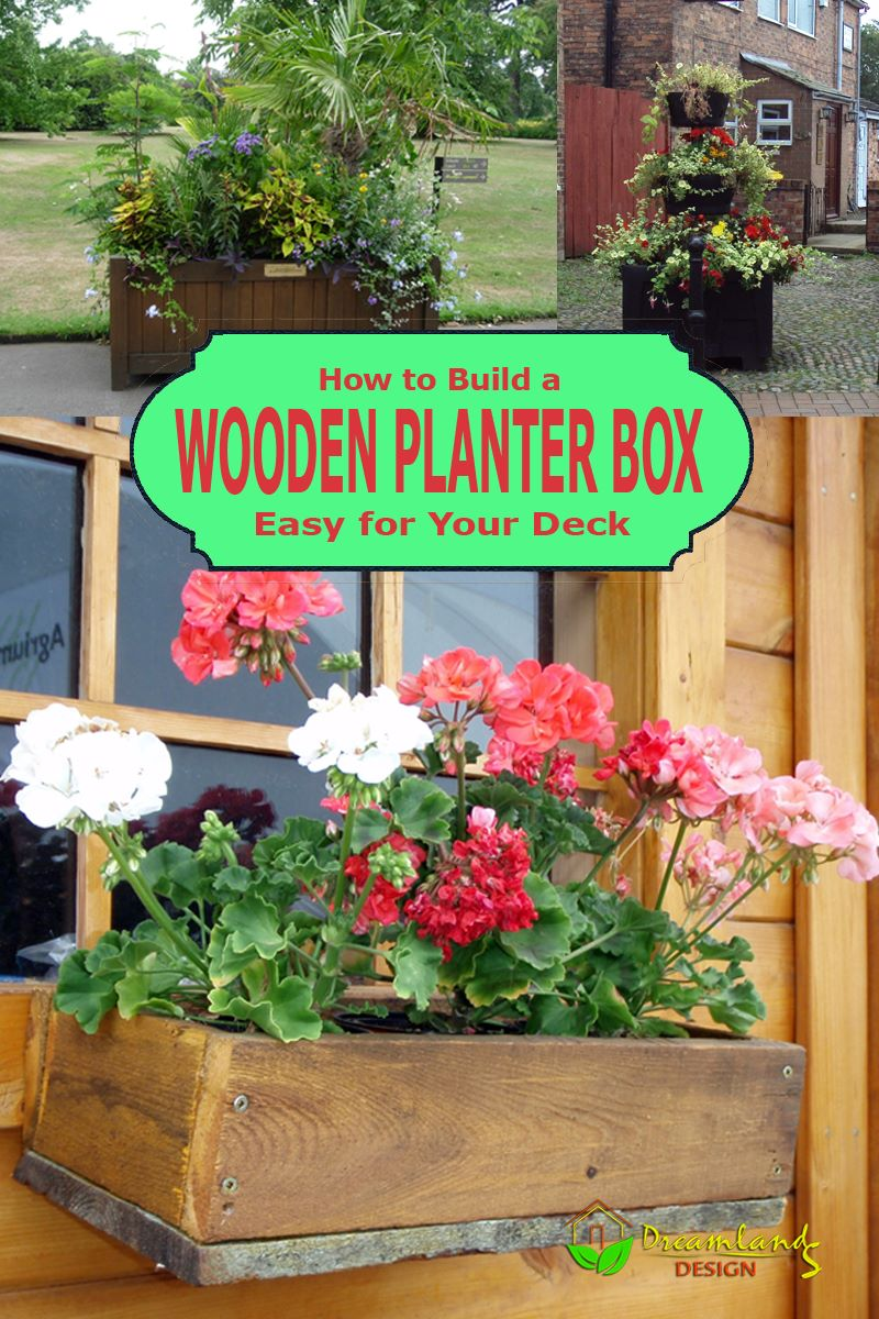 Pic of How to Build a Wooden Planter Box Easy for Your Deck - DIY Wood Planter Box