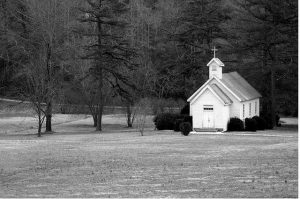 Pic of Small White Church - Church to Home Conversion