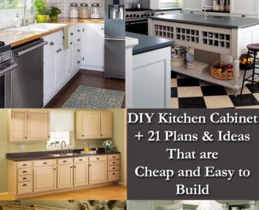 Featured of DIY Kitchen Cabinet Plans + 21 Plans & Ideas That are Cheap & Easy to Build