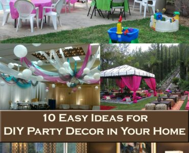 Featured of 10 Easy Ideas for DIY Party Decor in Your Home