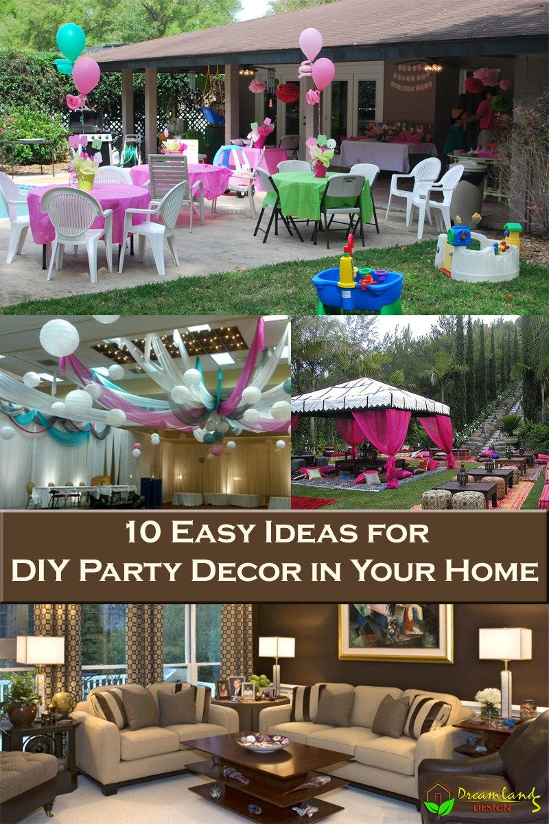 10 Easy Ideas for DIY Party Decor in Your Home