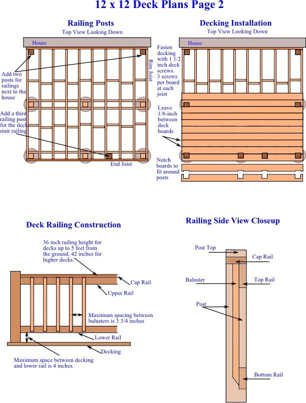12 x 12 DIY Inexpensive Deck Plans 2