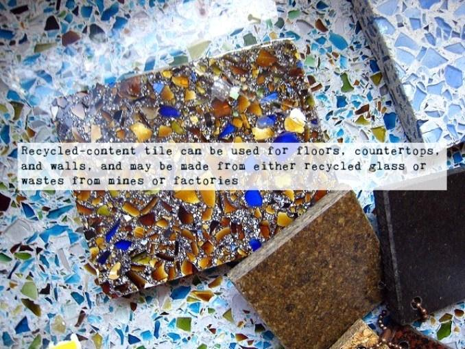 Recycled Glass Tile - Eco Friendly Materials for Homes That You Can Use During Renovation