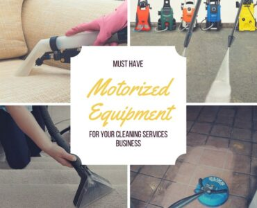 Featured of 5 Motorized Equipment That Are a Must Have for Your Cleaning Services Business