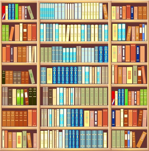 Bookcases Wall Art - Decorate Your Homes With Multi Canvas Wall Art