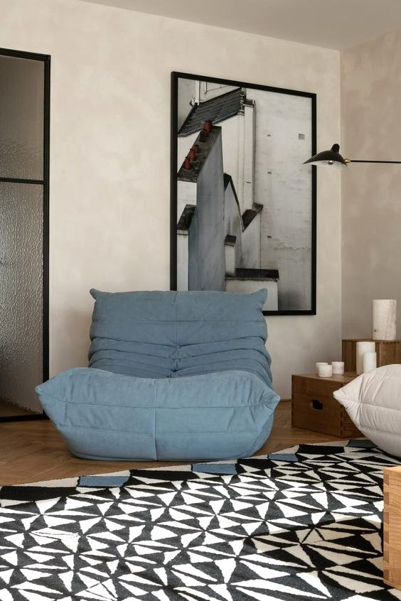 Rugs and Statement Art - How to Accessorize Around Your Togo Sofa