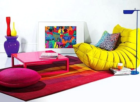 Colorful Explosion - How to Accessorize Around Your Togo Sofa