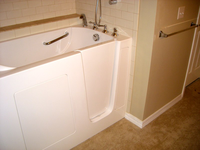Get a Walk-In Shower Tub - Top 10 Ways to Make Bathroom Safer for Elderly