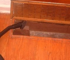 Return Vent Set into Floor - How to Clean Air Ducts