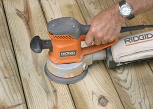 Tips on Sanding Between Deck Boards