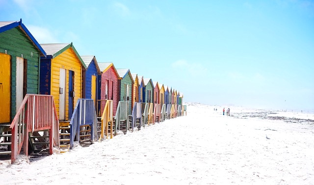 image - Beach houses with different bright colors