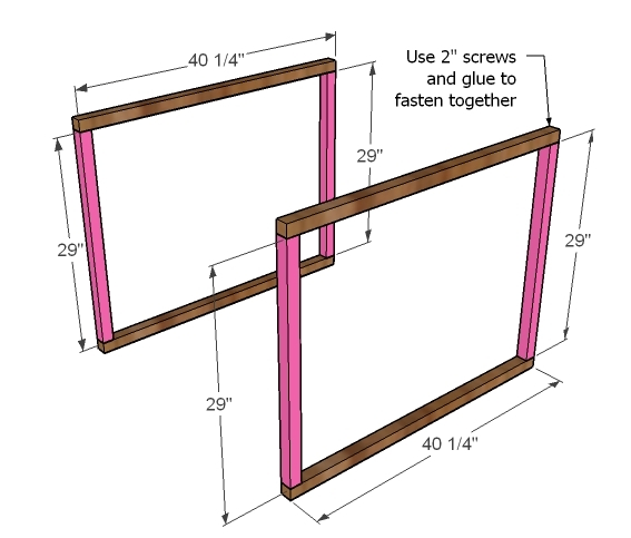 Step 1 - How to Build Twin Corner Beds with Storage