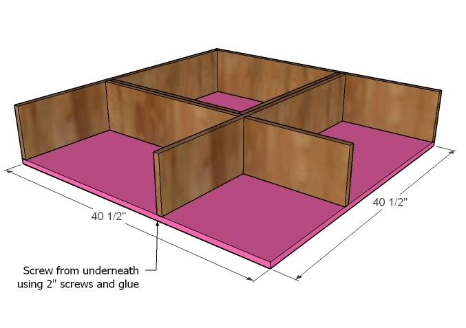 Step 6 - How to Build Twin Corner Beds with Storage