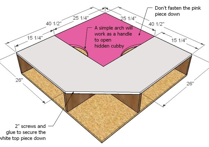 Step 7 - How to Build Twin Corner Beds with Storage