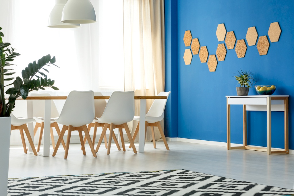 Image - Room with blue wall accent