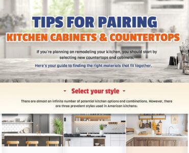 Featured image - How to Best Pair Together Kitchen Cabinets and Countertops