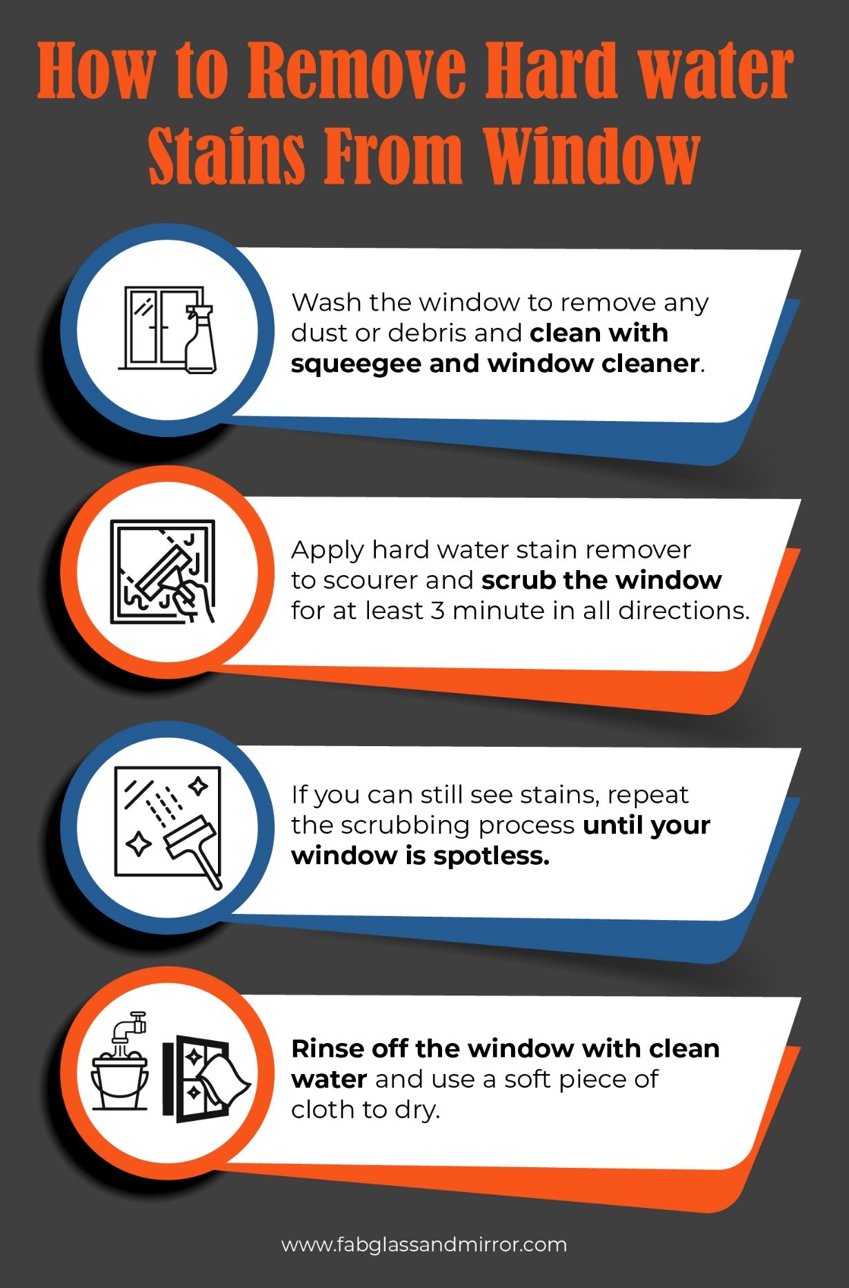 infographic - How to Remove Hard Water Stains from Windows
