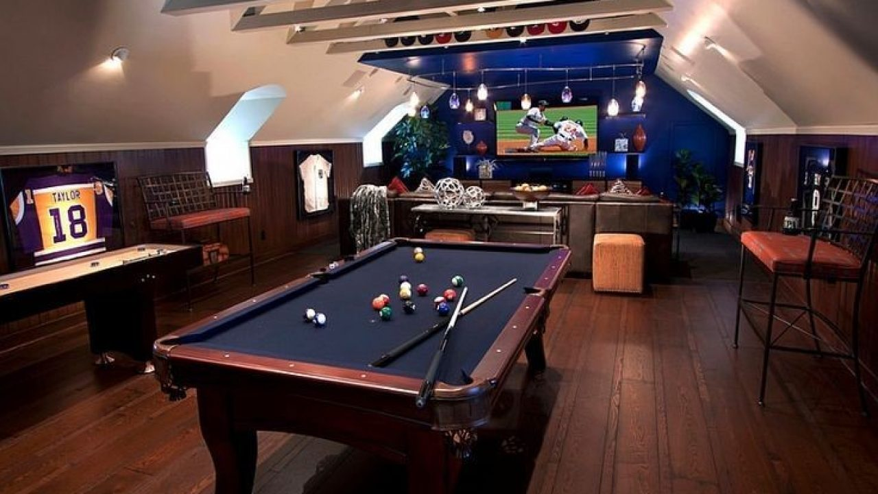 20 Best Attic Game Room Ideas For Adults