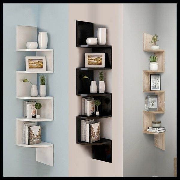 image - Contemporary Shelving Unit with Multiple Layers
