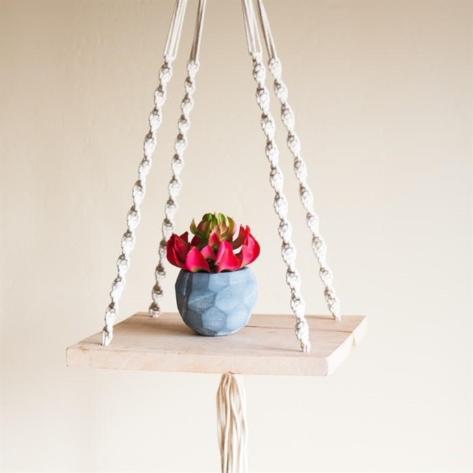 image - Hanging Shelves with Macramé Cords
