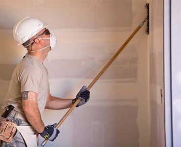 featured image - How to Sand Drywall Fast (Sanding Patch, Mud, Corners, Ceiling)